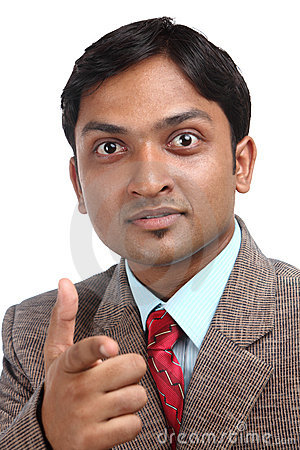 Angry Indian businessman