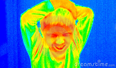 Angry kid thermograph