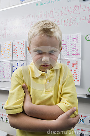Free Angry Little Boy In Classroom Stock Photos - 29662513