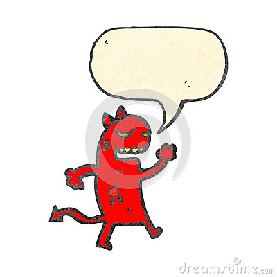 angry little devil cartoon