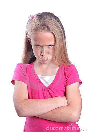 Free Angry Little Girl Royalty Free Stock Images - 22785929