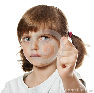 An Angry Little Girl Stock Photo - Image: 27553990