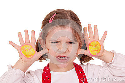 Angry Little Girl Stock Photo - Image: 28760840