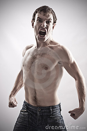 Free Angry Man Royalty Free Stock Image - 7553746
