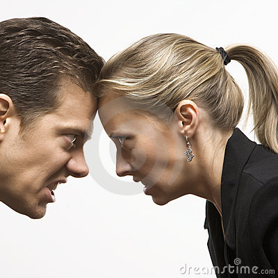 Free Angry Man And Woman Royalty Free Stock Photo - 2052035