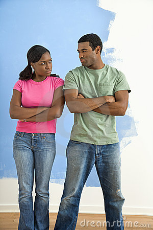 Free Angry Man And Woman. Stock Images - 6152704