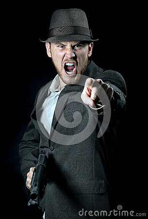 Angry Man with Gun