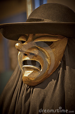 Angry mask with hat
