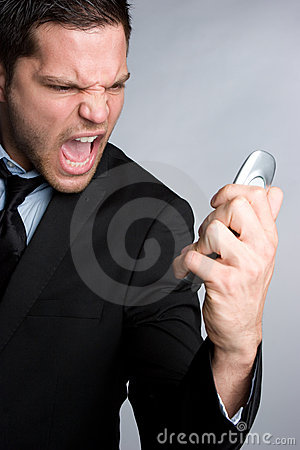 Free Angry Phone Man Royalty Free Stock Images - 13975329