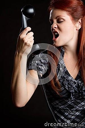 Angry Phone Woman