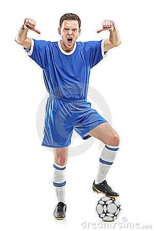 Angry player shouting and giving thumbs down