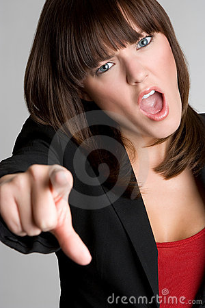 Angry Pointing Woman