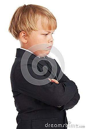Angry preschooler boy