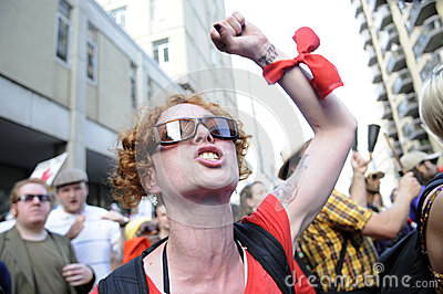Angry protester. Editorial Image