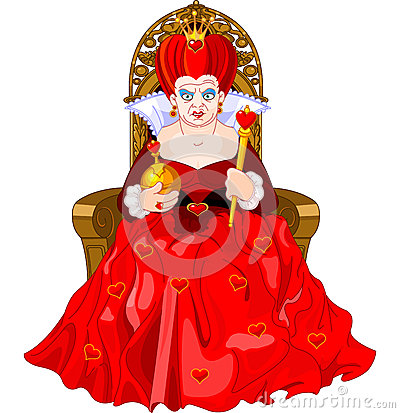 Free Angry Queen On Throne Royalty Free Stock Images - 41746239