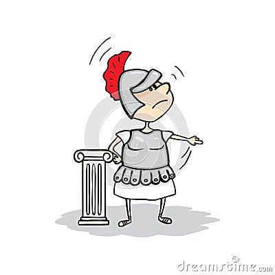 Angry Roman commander. Vector illustration. Vector Illustration