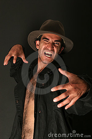 Free Angry Scary Man Royalty Free Stock Photos - 1220248