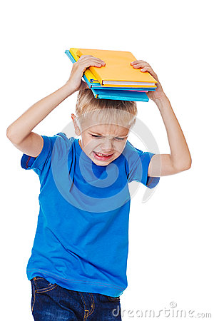 Free Angry School Boy Stock Photography - 31891442