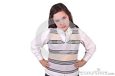 Angry school girl