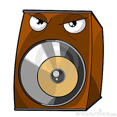Angry Speaker vector illustration.