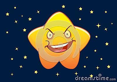 Angry Star Cartoon Character Illustration