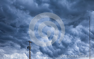 Angry Storm Clouds Over Ohio Stock Photo - Image: 56030768