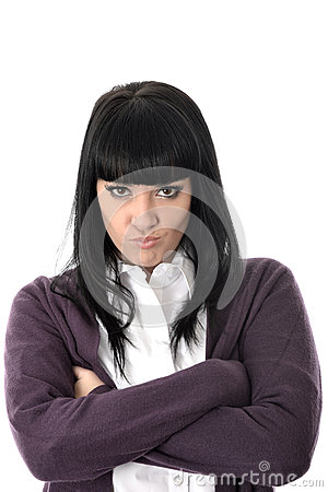 Free Angry Stressed Fed Up Unhappy Woman With Bad Attitude Stock Photos - 54879213
