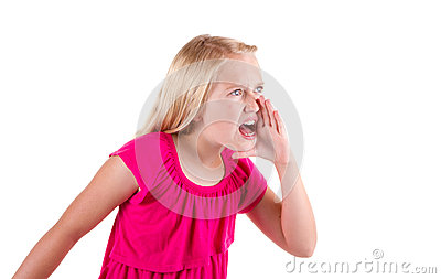 Angry teen yelling or shouting