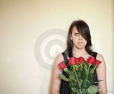 Angry Teenage Girl Portrait Stock Photo - Image: 6416100
