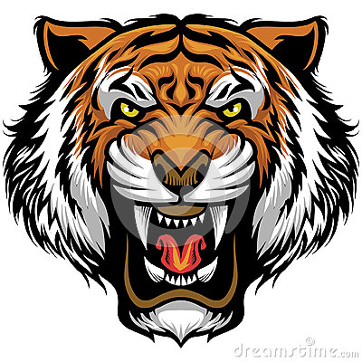 Free Angry Tiger Face Royalty Free Stock Photos - 70770388