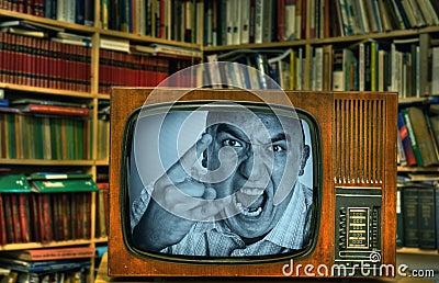 Angry TV-man