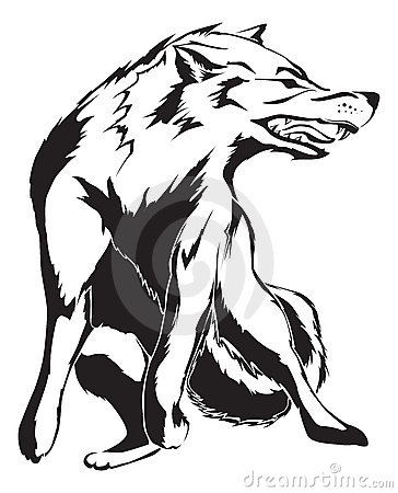 Angry Wolf Tattoo design
