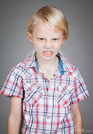 Free Angry Young Boy. Stock Photos - 31782153