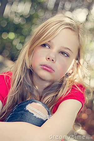 Free Angry Young Girl Royalty Free Stock Photography - 22542957
