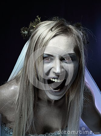 Angry zombie corpse bride