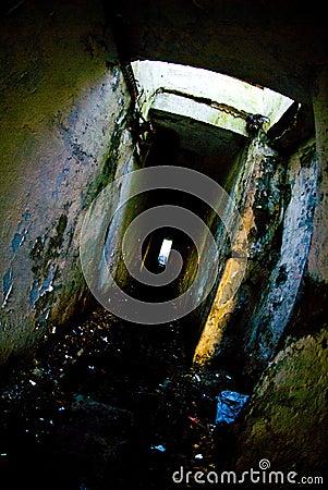 Angstaanjagende catacomben