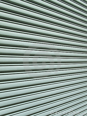 Angular view of garage door