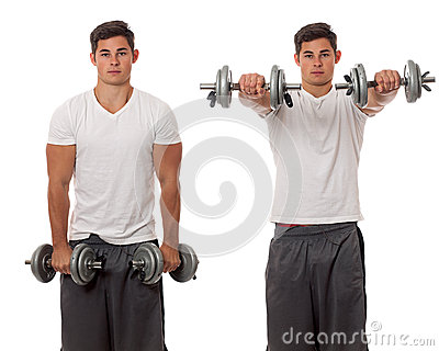 Anhebende Gewichte