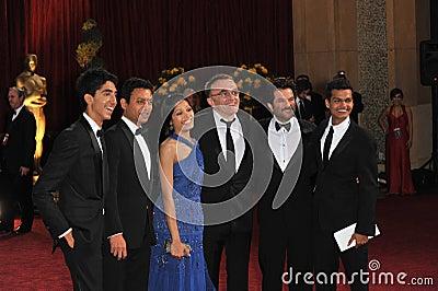 Anil Kapoor, Danny Boyle, Dev Patel, Freida Pinto, Irrfan Khan, Madhur Mittal Editorial Image