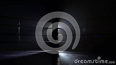 Anillo vacío del deporte del boxeo almacen de video