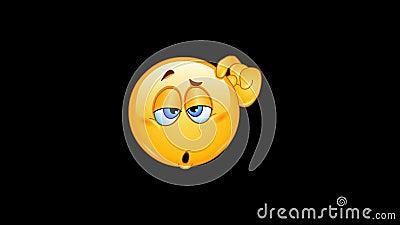 Animação confusa do emoticon