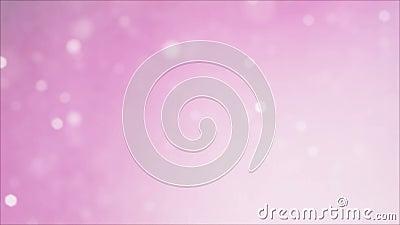 Animação cor-de-rosa macia de brilho do fundo do bokeh defini??o 4K ilustração royalty free