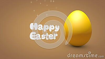 Animação feliz do ovo da Páscoa 3d ilustração do vetor