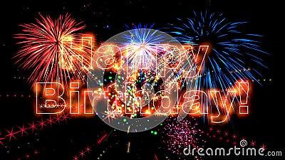 Animación de alta calidad del feliz cumpleaños HD stock de ilustración