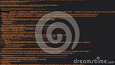 Animación del concepto de hacker de codificación de pantalla naranja con error libre illustration