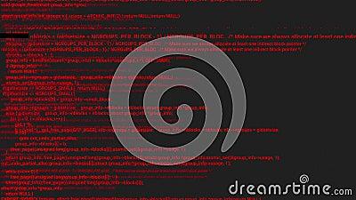 Animación del concepto de hacker de codificación de pantalla roja con error ilustración del vector