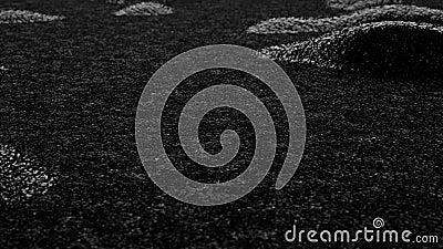 Animación monocroma de ondas y ruido de ondas en la superficie negra como el asfalto Reducido de superficie oscura Topográfico ab almacen de video