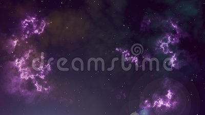 Animaci?n de la nebulosa y de las estrellas del parpadeo que brillan intensamente libre illustration