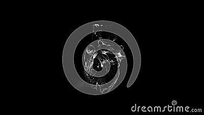 Animacja niebieskiego serca Bezproblemowa pętla z alfa ilustracji