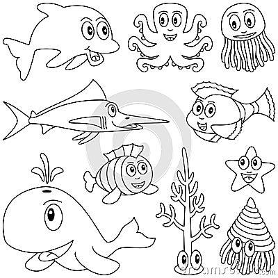 Animais marinhos colorindo [1]
